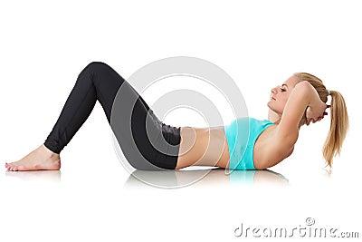Sporty woman. Fitness.