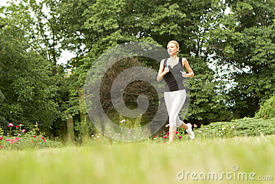 Sporty woman running