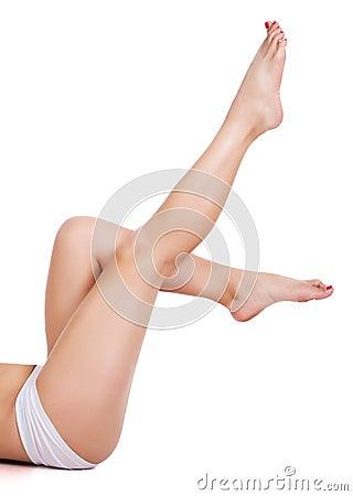 Sporty woman s legs