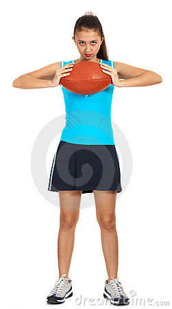 Sporty young girl