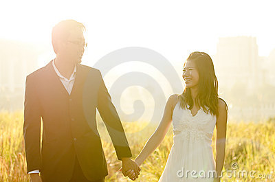 Sposa e sposo esterni