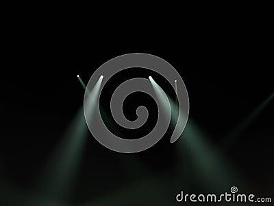 Spot light beams in darkness