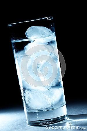 Spot light ice cube water