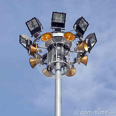 Spot-Light Tower With Gold Color Speakers