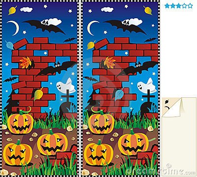 Free Spot Ten Differences - Halloween Royalty Free Stock Photography - 6306607