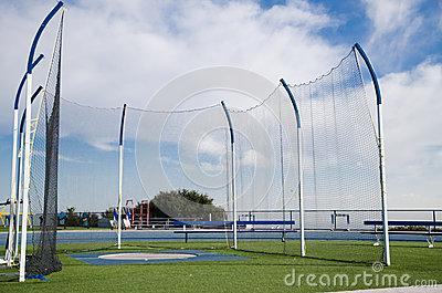 Spot for throwing at the track and field stadium