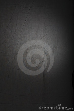 Spotlight on background cloth