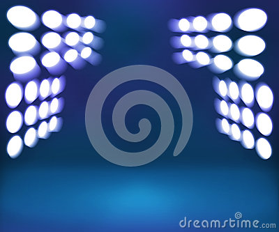 Spotlight Blue Room Stage Background