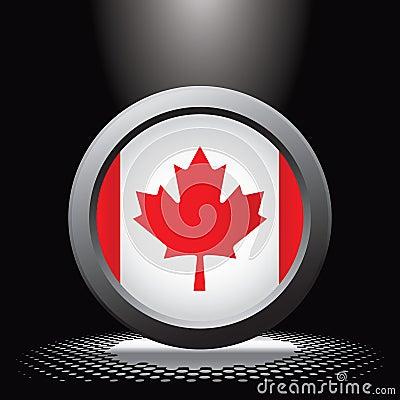 Spotlight on canadian flag