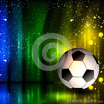 Free Spotlight Football Glitters Background With Soccer Ball Stock Photo - 41528220