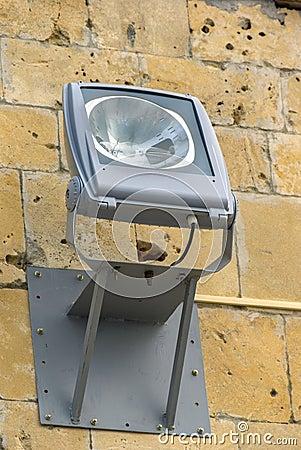 Spotlight lamp on the wall