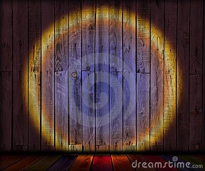 Spotlight on Old Wooden Planks