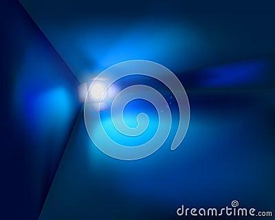 Spotlight in the room. Vector illustration.