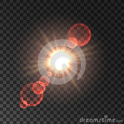 Free Spotlight With Red Lens Flare Effect Stock Photography - 76854422