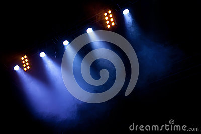 Spotlights at the Stage or Concert