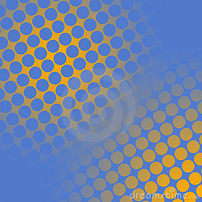 Spots on yellow and blue