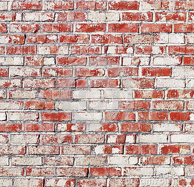Spotted brick wall