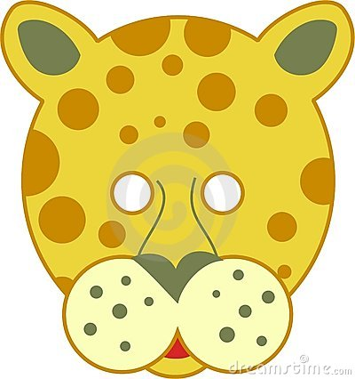 Spotty leopard mask