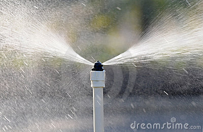 The spout spraying water