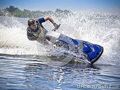 Spped on  jet ski