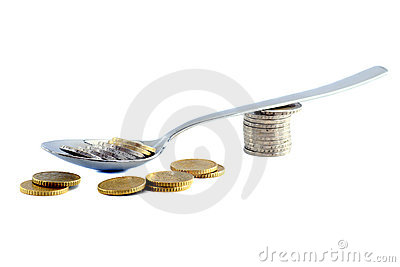 Sppon and money