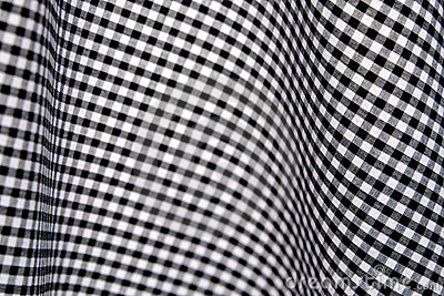 Sprawdź gingham białe czarne