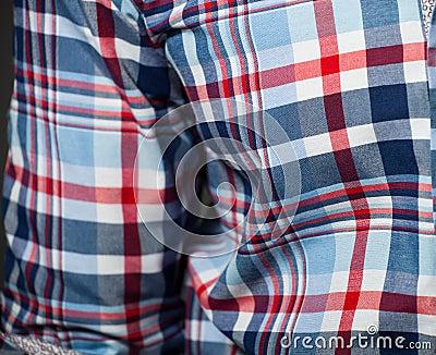 Sprawdzać deseniowa koszula