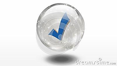 Sprawdza inside szklaną sferę
