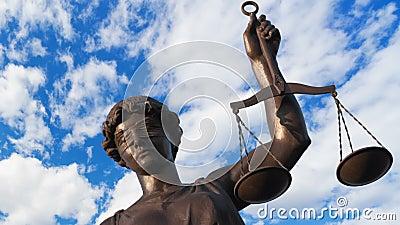 Sprawiedliwości statua zbiory