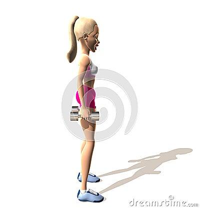 Sprawności fizycznej dziewczyna: ramiona