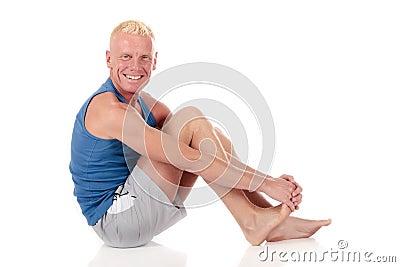 Sprawności fizycznej forties mężczyzna w połowie