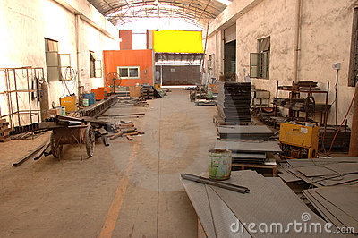 Spray booths factory in China Editorial Photography