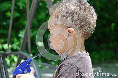 Spray bottle fun