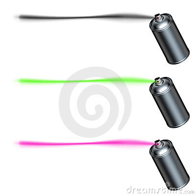 Spray can spraying a line