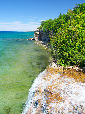 Free Spray Falls - Michigan UP Stock Photo - 16139640