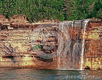 Spray Falls Munising Michigan Stock Photo