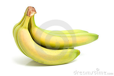 Spray of fresh bananas