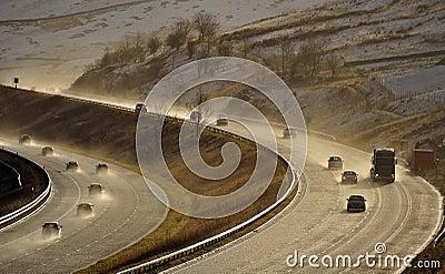 Spray, M6 motorway, Cumbria, UK