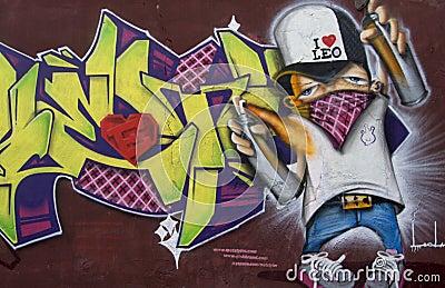 Spray Painter  Graffiti Editorial Stock Photo