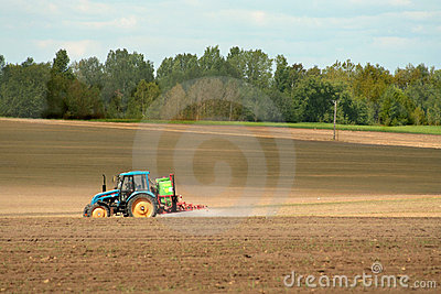 Sprayer on a field