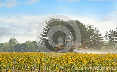 Spraying Agricultural Chemical