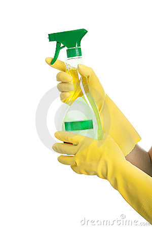 Spraying cleaner liquid