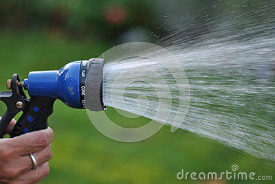 Spraying Garden Hose