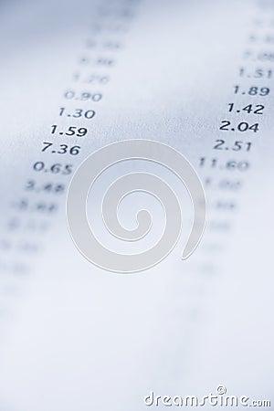 Free Spreadsheet Figures Royalty Free Stock Image - 8591986