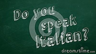 Sprechen Sie Italienisch? vektor abbildung