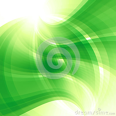 Spring abstract green background