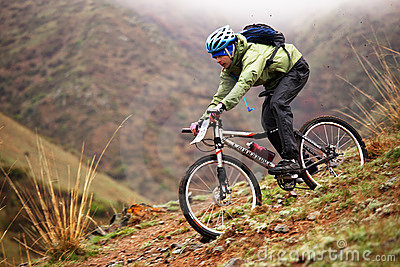 Spring adventure mountain bike competition Editorial Photography