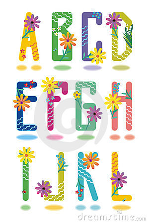 Free Spring Alphabet Letters A - L Stock Photography - 2284812