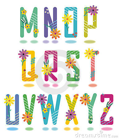Free Spring Alphabet Letters M - Z Stock Photo - 2285110