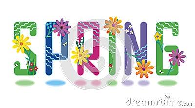 Spring alphabet mini set